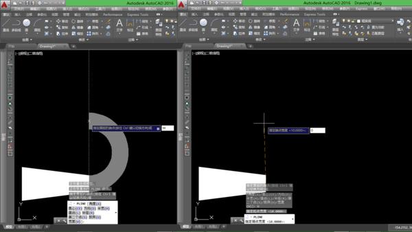 CAD画出由粗到细的多段线中心监控cad图片