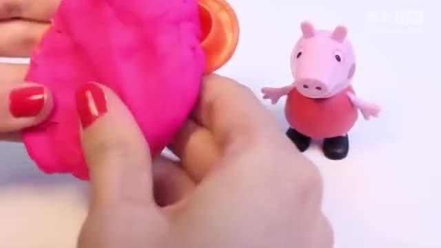 粉红猪小妹太空火箭五角星小动物橡皮泥模具手工制作教程