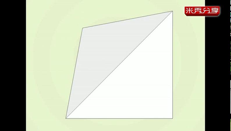 儿童折纸教程动画 桌椅折法视频