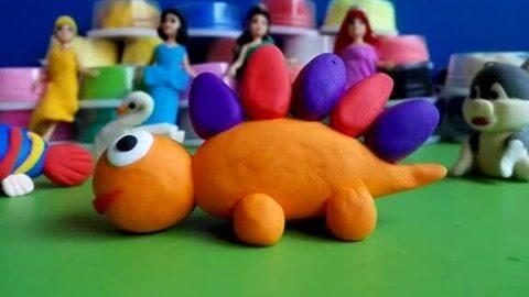 橡皮泥手工制作 恐龙宝宝