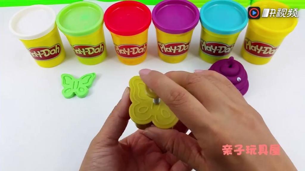 培乐多橡皮泥粘土手工蝴蝶 亲子益智儿童玩具视频