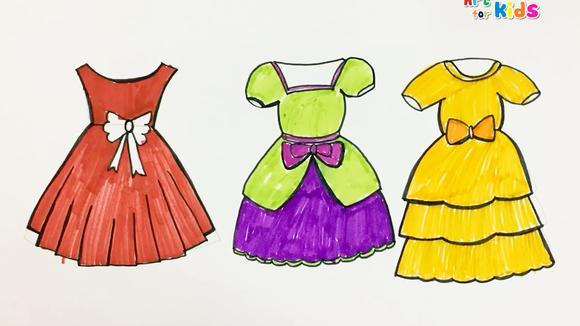 视频:育儿早教铅笔画画 和孩子一起学画三条晚礼服裙子