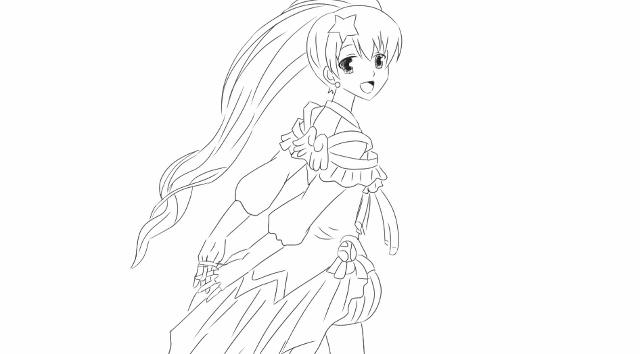 绘画儿童动画片《巴啦啦小魔仙之奇迹舞步》中的可爱的贝贝公主.