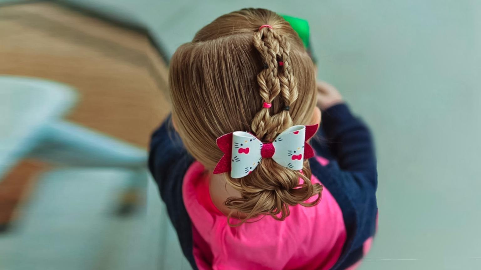 2017最流行的儿童丸子头编发视频 最简单盘发教程