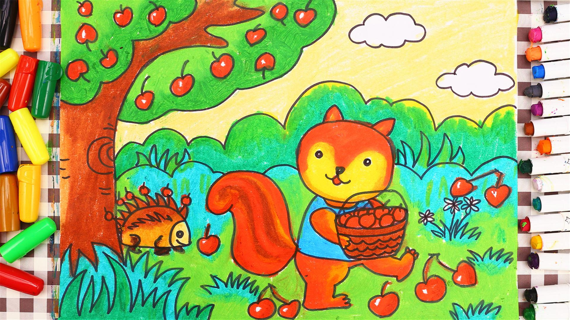 可以听的儿童故事画 森林里的 b>樱桃树 /b>-贝儿学.图片