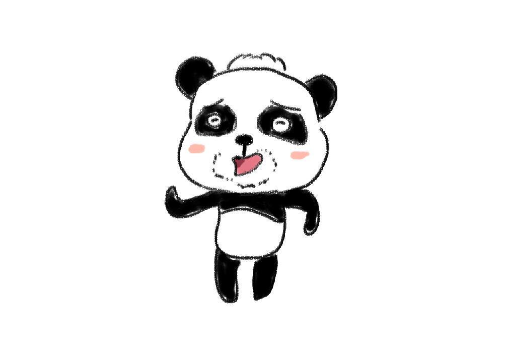 宝宝巴士儿歌里的熊猫爸爸卡通简笔画教程 宝宝轻松学画画-亲子.