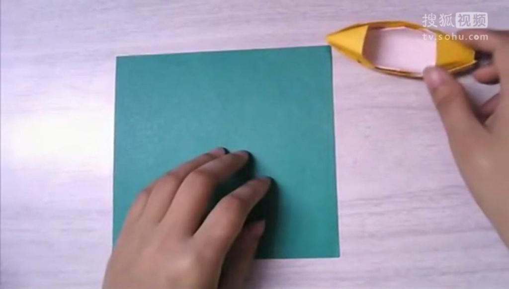 纸船手工制作大全 diy手工折纸舢舨船的做法 折法图解