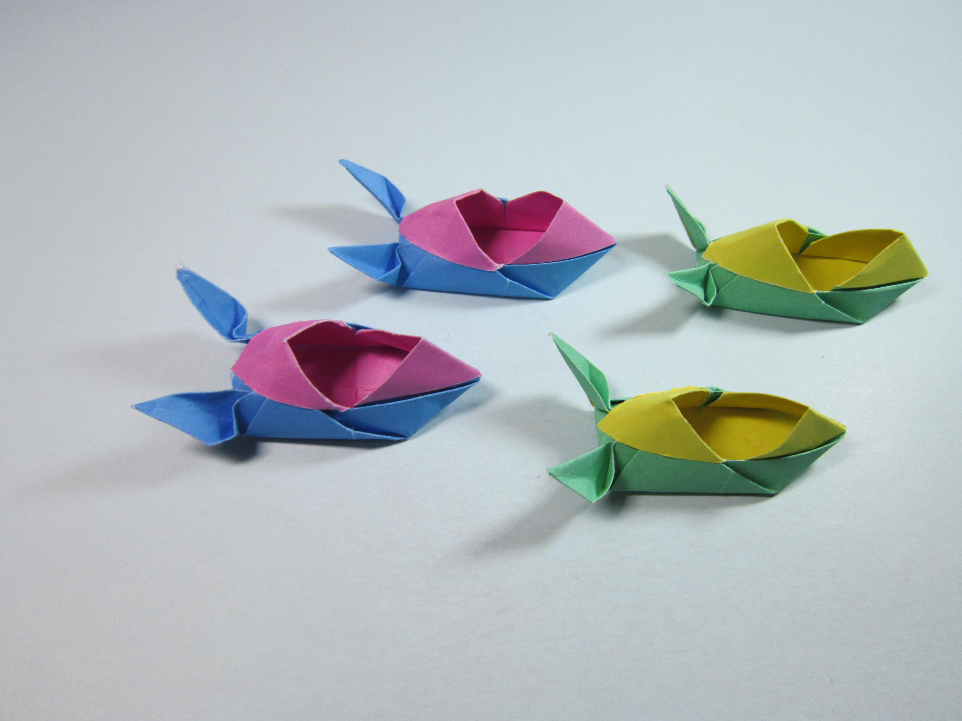 儿童手工折纸鞋子,简单又萌萌的兔子鞋折法