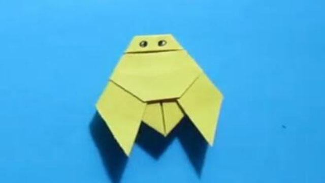 视频:儿童手工折纸小动物蝉 简单的知了折纸教程