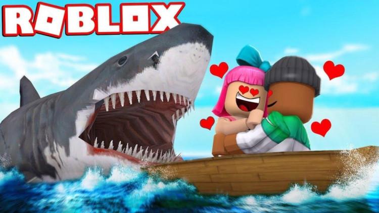 【roblox鲨鱼猎杀】雪橇飞艇 b>大战 /b>深海 b>狂鲨 /b>!扮.