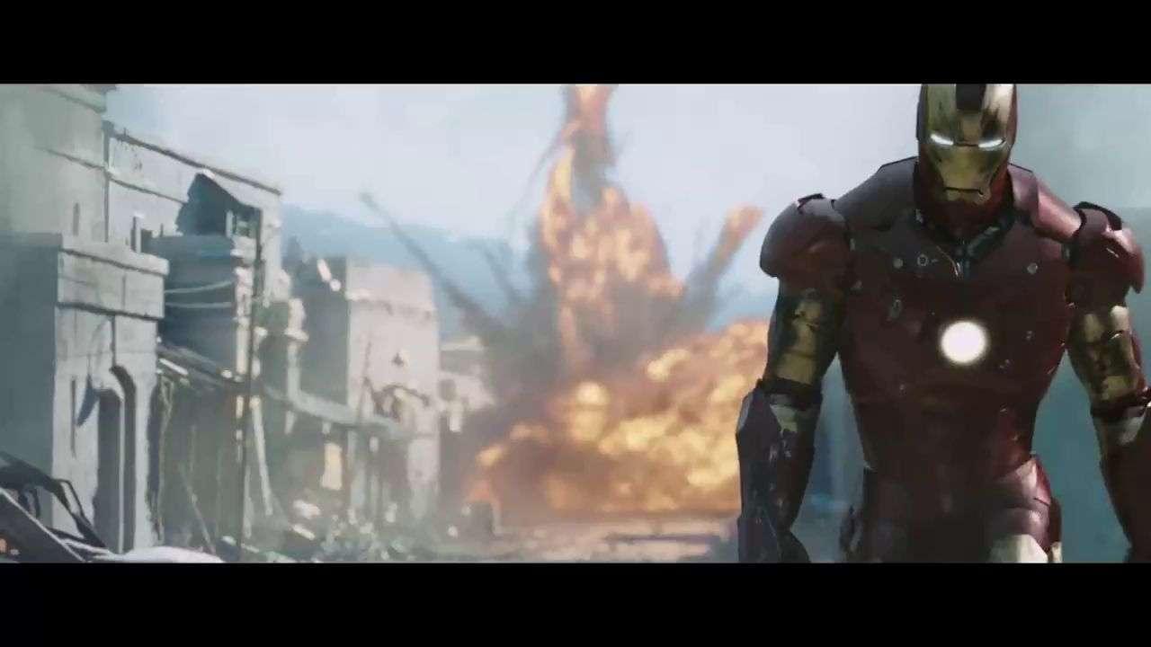 钢铁侠刚制作好战衣,就去打击恐怖分子,帅得掉渣