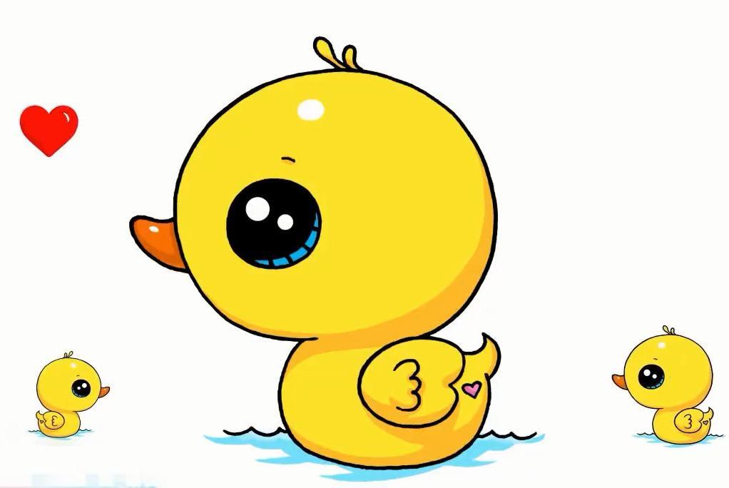 视频:幼儿简笔画画法,简单几笔陪孩子画出一只可爱的黄色小鸭子游水