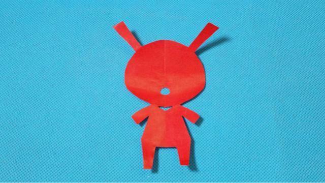 剪纸小兔子2 儿童剪纸教程大全 亲子手工diy教学