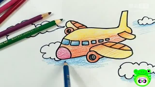 简笔画飞机四-我们一起来画画 -固瓜玩具