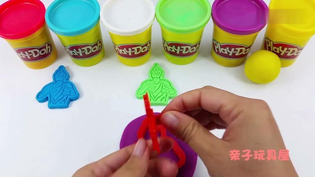 培乐多创意手工迪迦奥特曼 橡皮泥彩泥儿童玩具