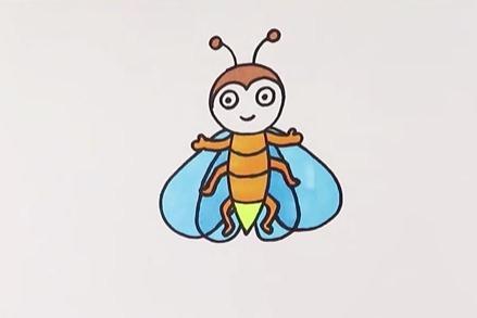 简笔画丨几笔画出漂亮的萤火虫,让孩子长大后有一个美好的童年!