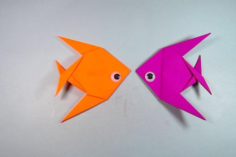 视频-儿童手工折纸小ag游戏直营网|平台:简单又漂亮立体小鱼的折法
