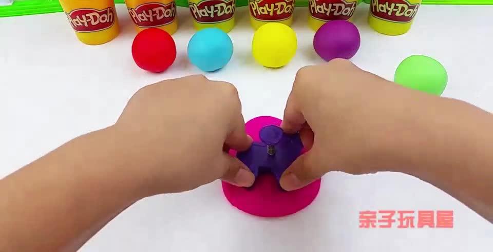 培乐多彩泥玩具视频_儿童手工制作大象狮子模型-小飞侠玩具第九期-.