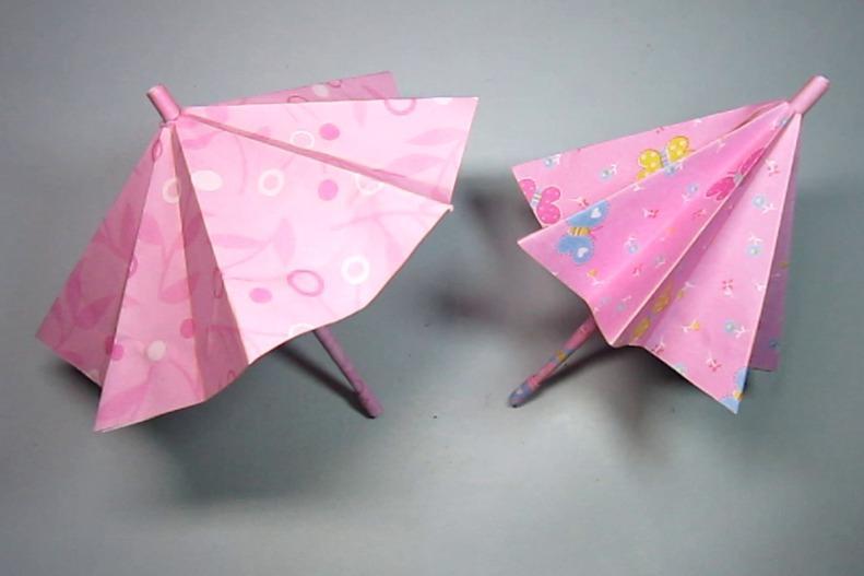 视频:可收缩的雨伞折纸原来这么简单,几分钟就能学会,小雨伞的折法