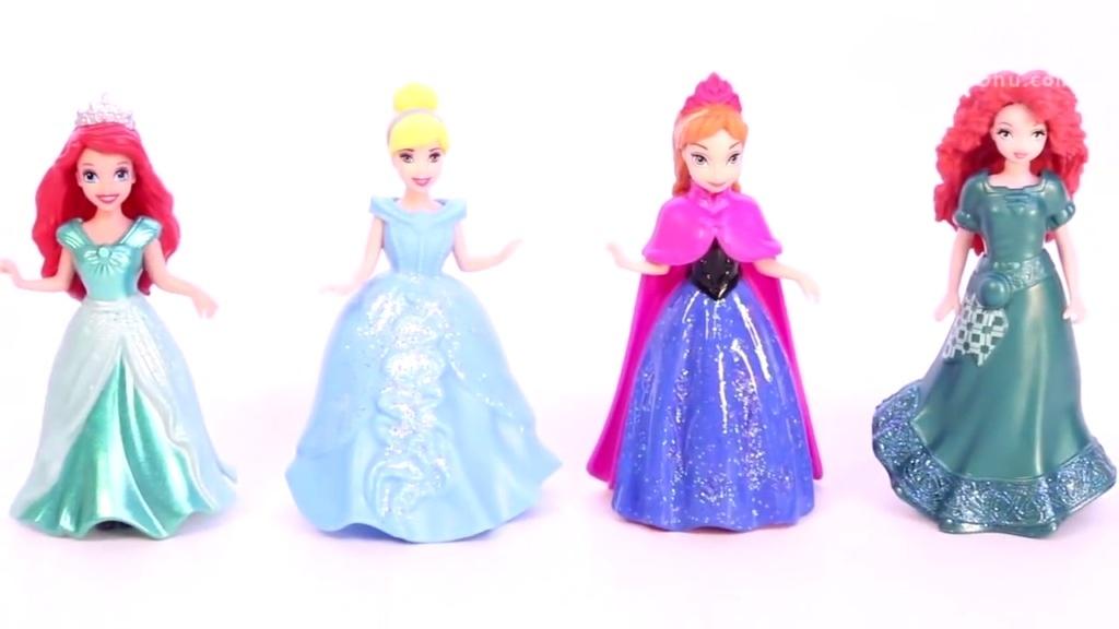 儿童益智玩具橡皮泥给芭比娃娃长发公主手工制作连衣裙视频教程