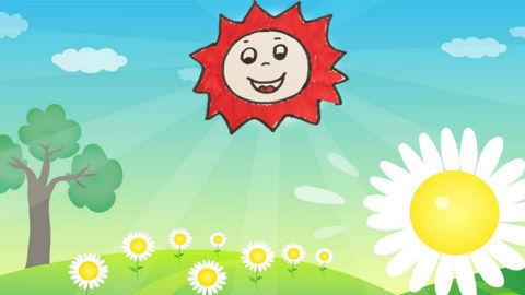 儿童简笔画,教宝宝画出可爱的小太阳!