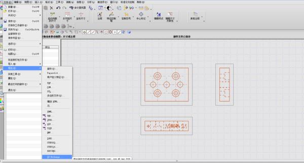 把UG3维视图转换为CAD3视图cad图纸v视图放大慢图片