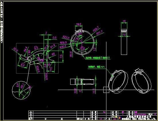 CAD布局中标注不出打印装修施工写字楼图纸图片