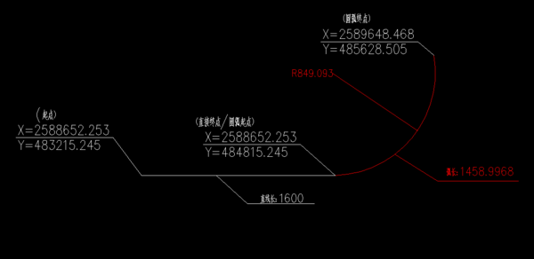 CAD中求图画跟圆弧的方位角问题cad轴法测直线图片