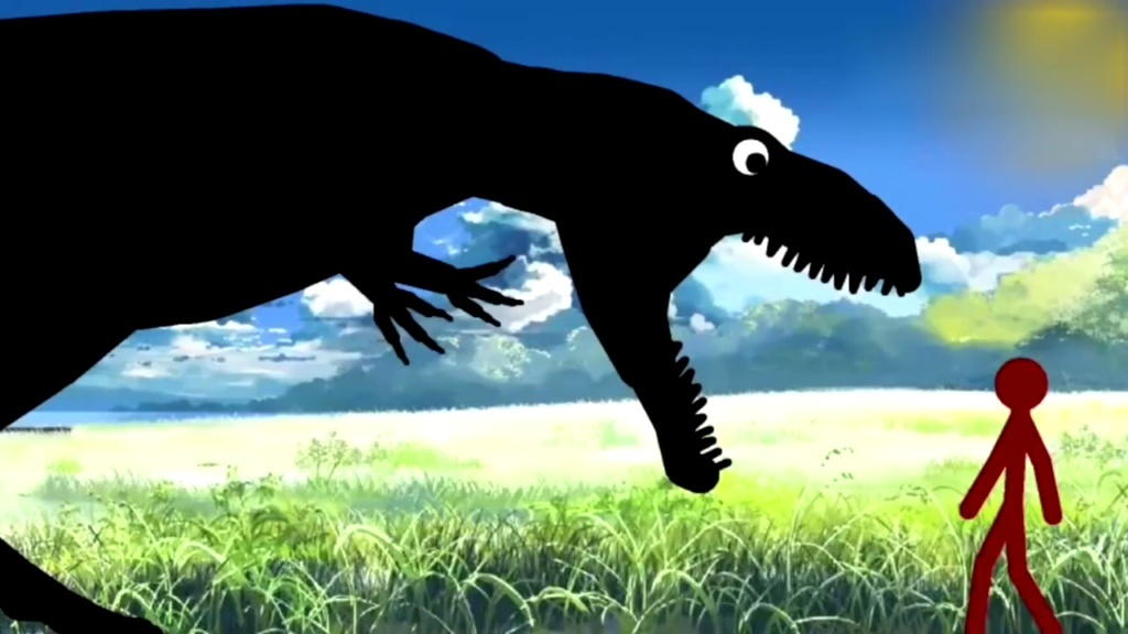 恐龙世界搞笑动画片 人类驯服大恐龙 恐龙世界之霸王龙动画版图片