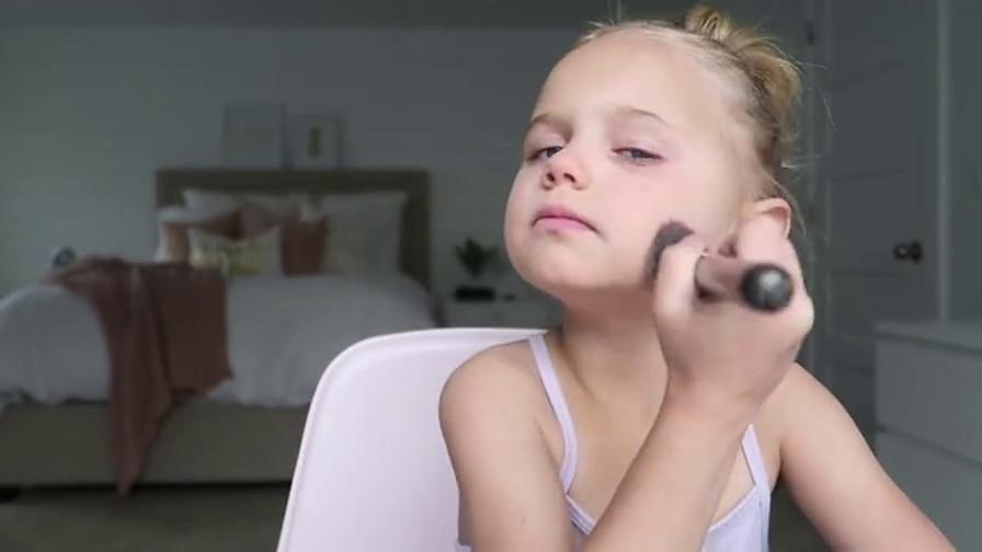 【化妆教程】//国外幼儿园小朋友化妆教程