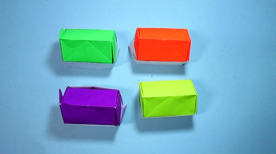 儿童手工折纸:漂亮立体小房子的折法