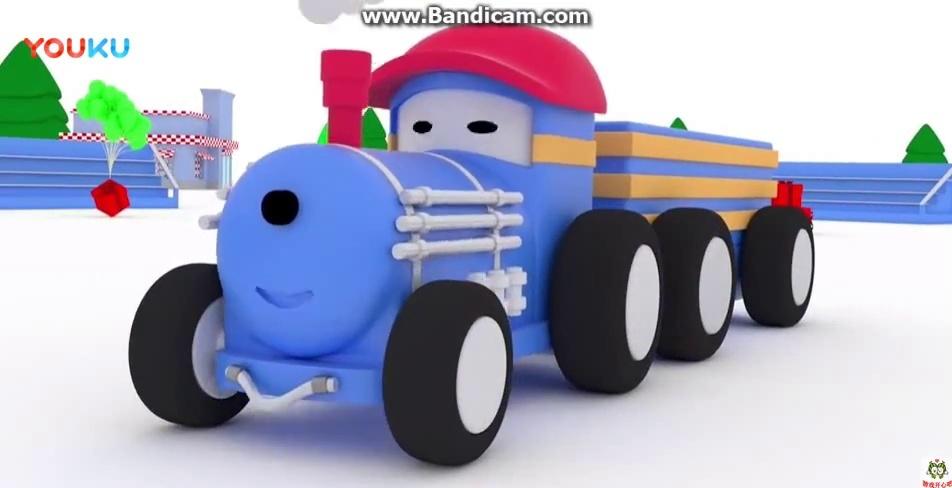 幼儿早教益智卡通: 和小火车泰德学习组装警车和消防车, 学习动手能力
