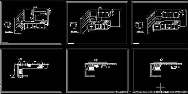 求,橱柜设计图cad图的画法cad怎么图1变成把1图片