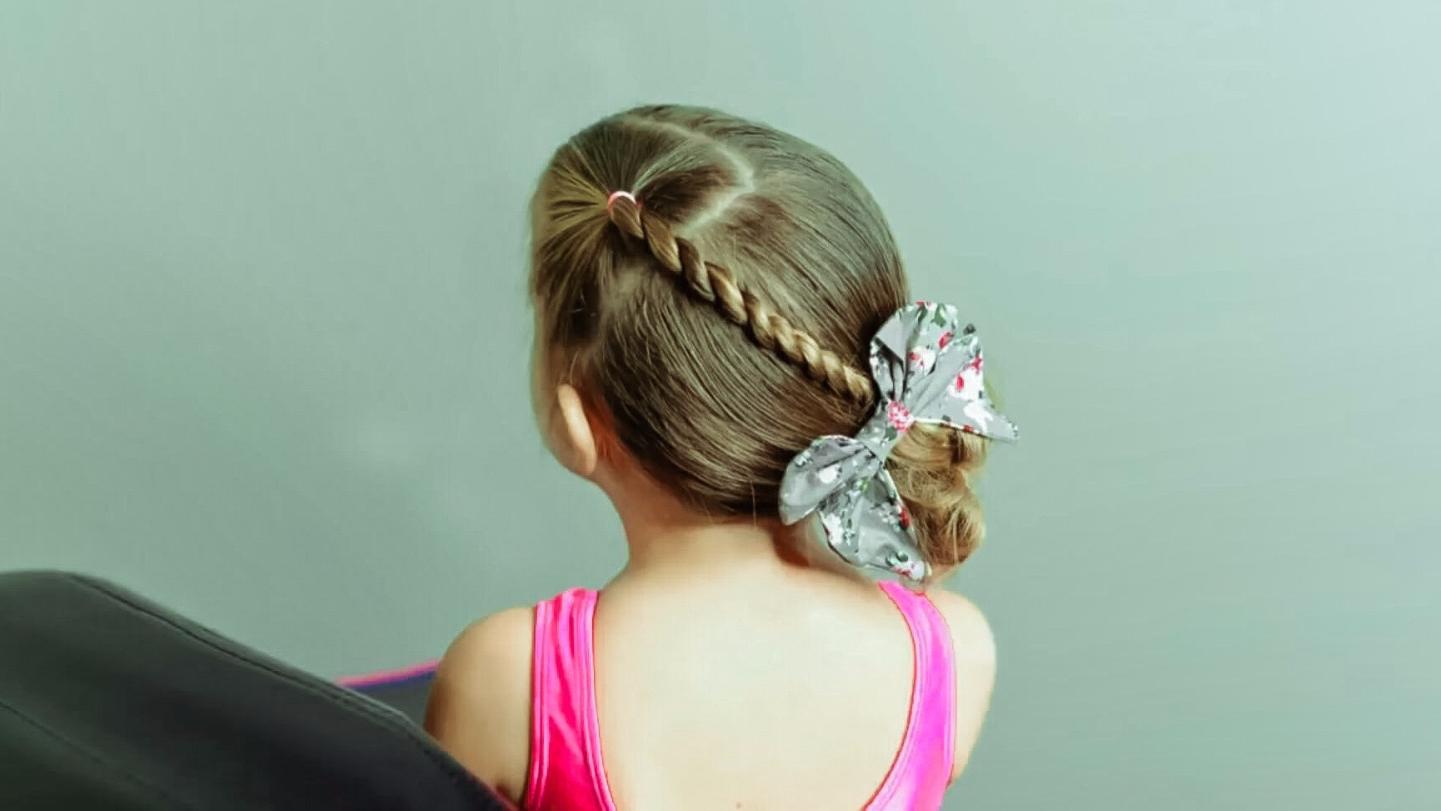 宝宝丸子头的扎法 儿童简单盘发发型教程视频