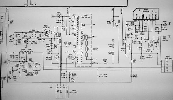 康佳p21sa828彩色电视机高压包引脚功能