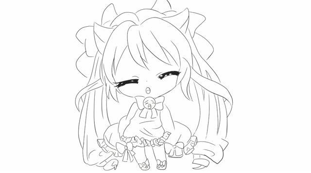 [小林简笔画]如何绘画可爱q版的初音小公主卡通动漫简笔画教程