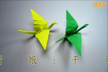 千纸鹤的折法 千纸鹤的简单折法 千纸鹤折纸