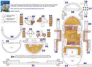 我想求一份海贼王纸模的图纸海盗船的香港室内装修设计公司图片