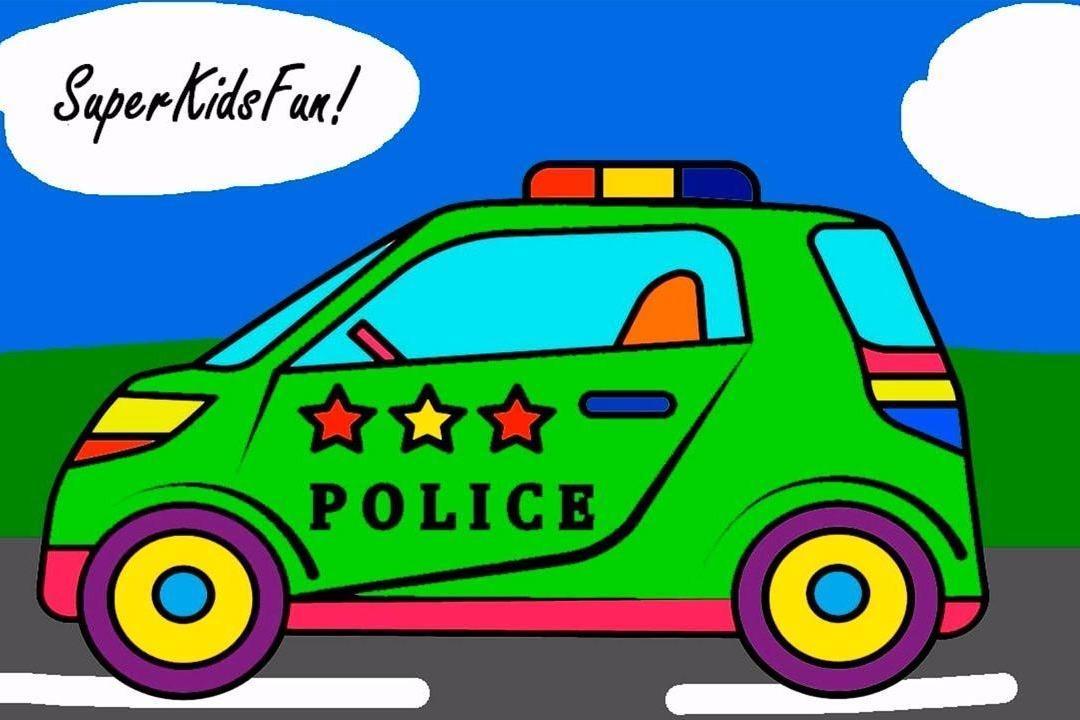 视频:儿童绘画视频教程,绘制一辆小型警车
