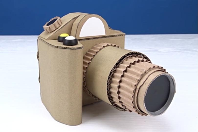 视频:手工制作纸板相机居然还设计上对焦
