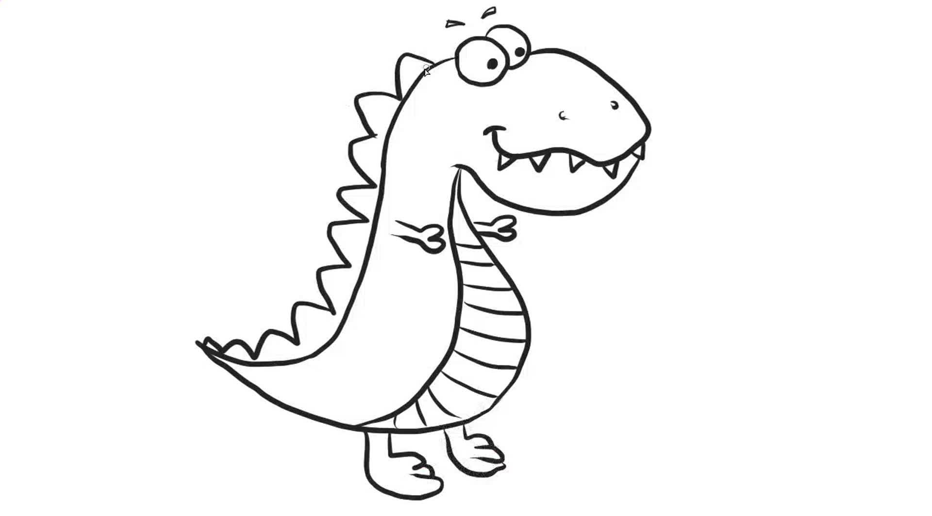 可爱小恐龙幼儿早教亲子简笔画教程 宝宝轻松学画画