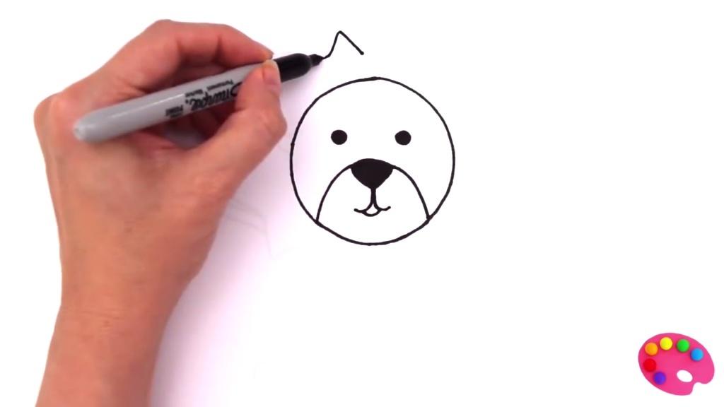 儿童素描彩绘简笔画狮子 狮子脸长得跟太阳一样 小马宝莉 汪汪队立大