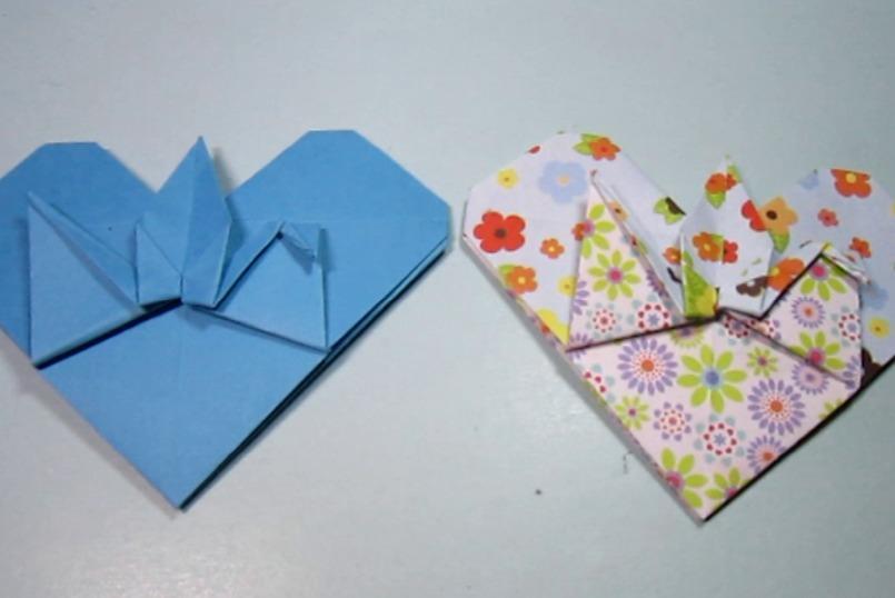 视频-手工折纸:漂亮千纸鹤书签的简单折法