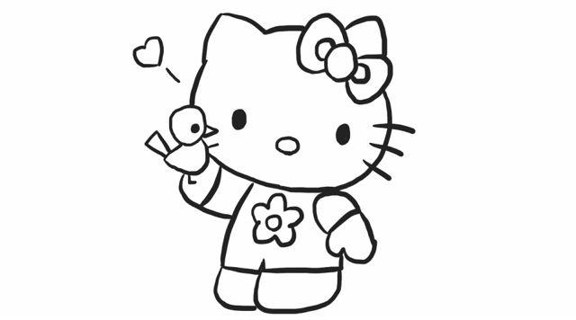 [小林简笔画]教你如何画凯蒂猫简笔画幼儿亲子儿童绘画教程