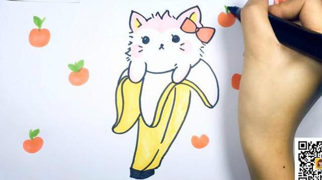 可乐姐姐学画画-香蕉小猫
