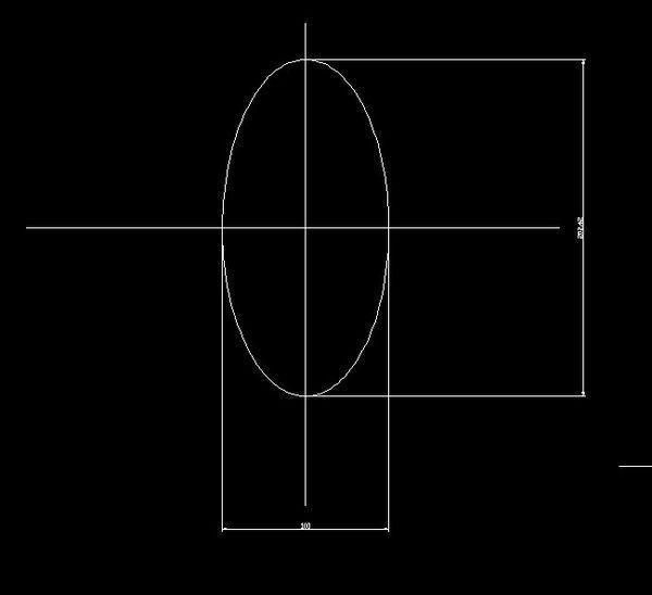 cad椭圆标注半轴臂图纸注射器液压机械图片
