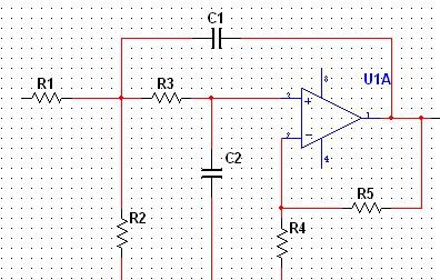 >>二阶有源低通滤波器的计算问题    由两节rc滤波器电路和同相比例