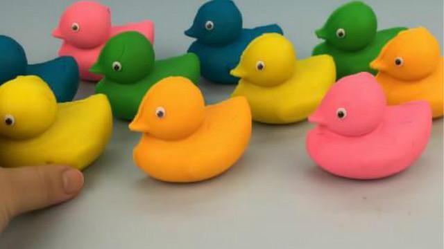 小鸭子惊喜玩具:用小鸭子橡皮泥做成各种小动物