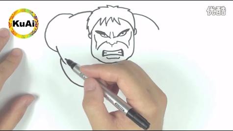 酷爱学堂11之绿巨人,漫威复仇者联盟超级英雄简笔画,大爱浩克