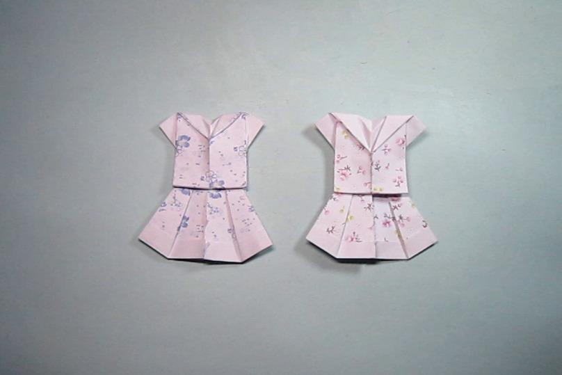 视频:简单的手工折纸服装裙子,3分钟学会小碎花裙子的折法